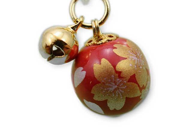 有田焼ブックマーカー玉 赤金桜