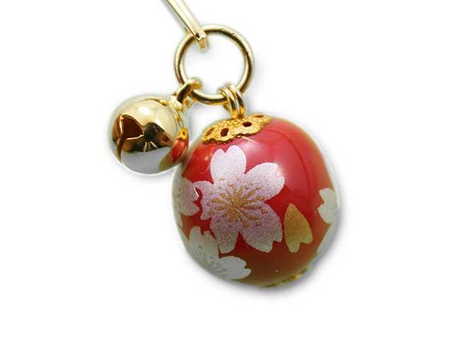有田焼ブックマーカー玉 赤銀桜
