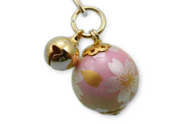 有田焼ブックマーカー玉 ピンク銀桜