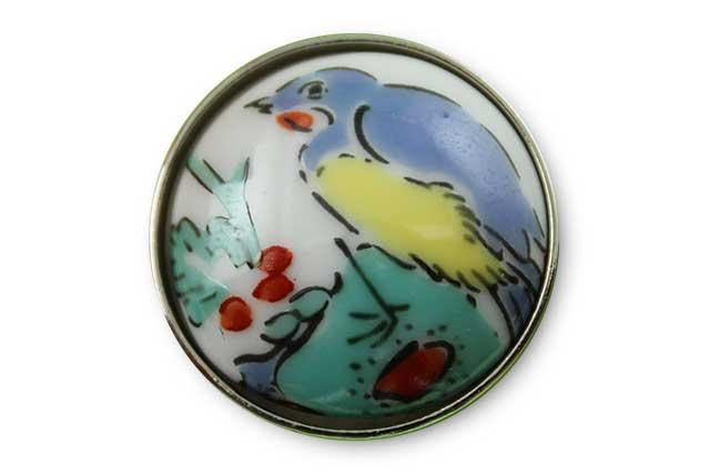 有田焼ボタン 花鳥