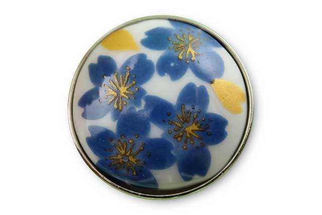 有田焼ボタン ブルー桜