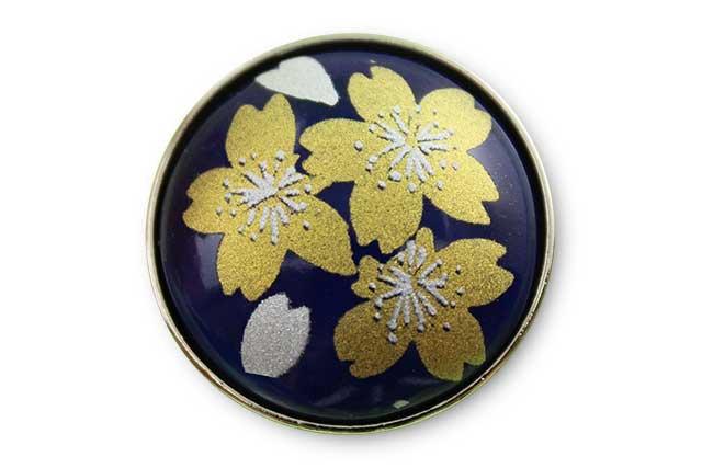 有田焼ボタン るり金桜