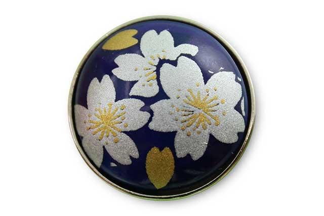 有田焼ボタン るり銀桜