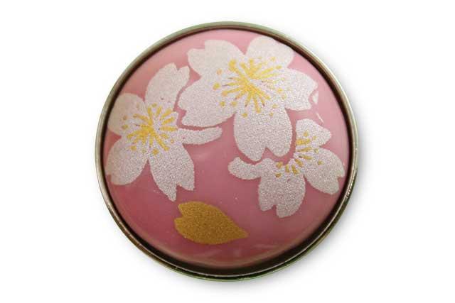 有田焼ボタン ピンク銀桜