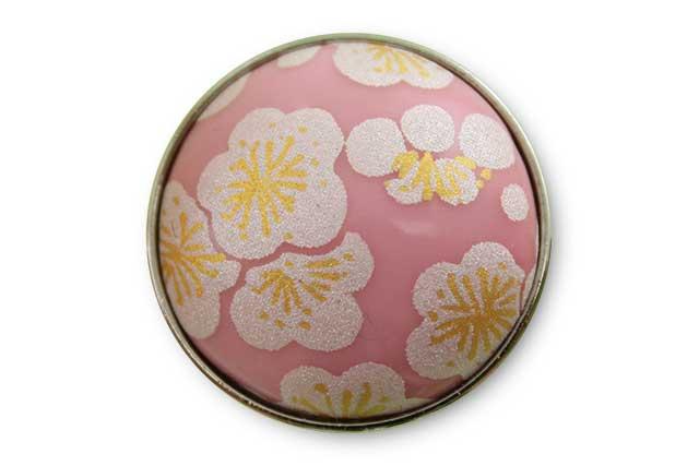 有田焼ボタン ピンク銀梅