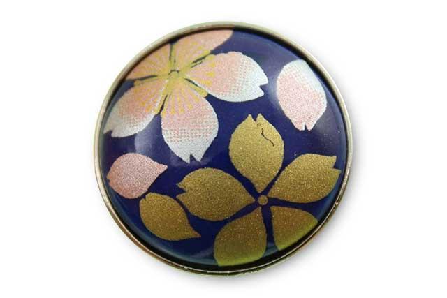 有田焼ボタン るり桜吹雪(ピンク)