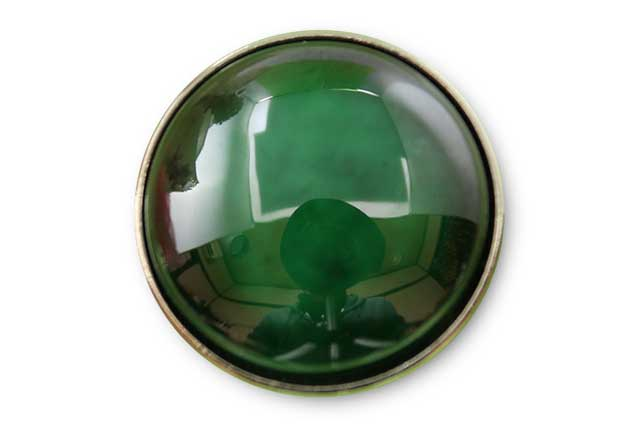 有田焼ボタン グリーン