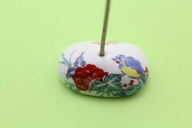 やきもの 焼き物 陶磁器 アクセサリー 小物雑貨 有田焼カードクリップ 花鳥