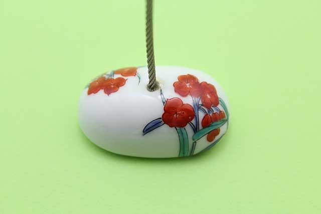 やきもの 焼き物 陶磁器 アクセサリー 小物雑貨 有田焼カードクリップ つゆ草