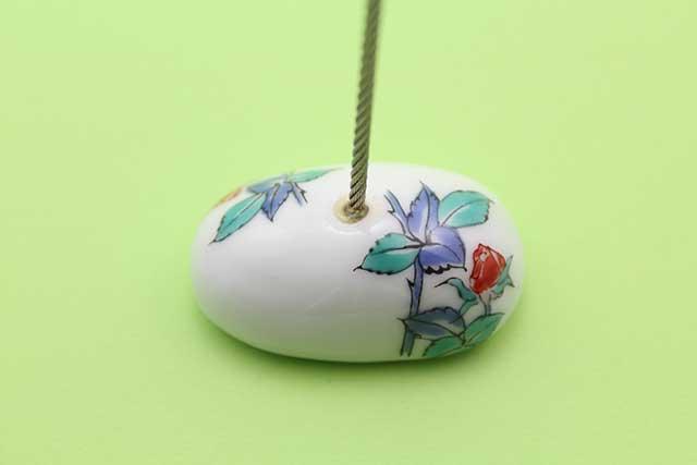 やきもの 焼き物 陶磁器 アクセサリー 小物雑貨 有田焼カードクリップ バラ