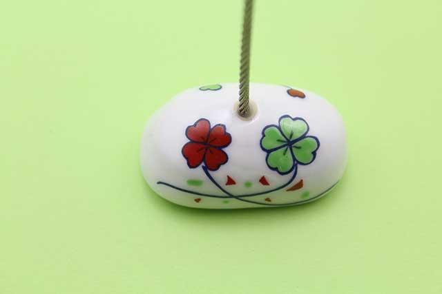 やきもの 焼き物 陶磁器 アクセサリー 小物雑貨 有田焼カードクリップ クローバー