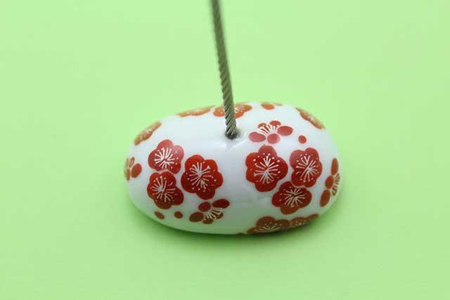 やきもの 焼き物 陶磁器 アクセサリー 小物雑貨 有田焼カードクリップ 梅