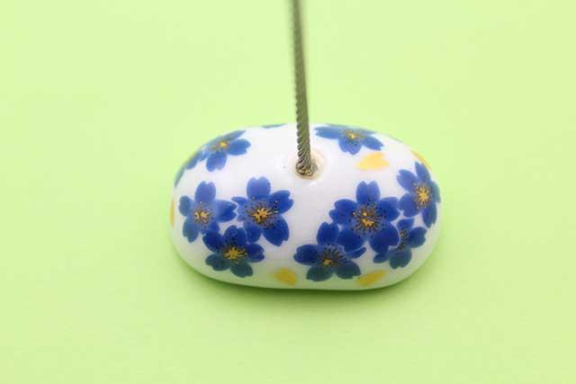 やきもの 焼き物 陶磁器 アクセサリー 小物雑貨 有田焼カードクリップ ブルー桜
