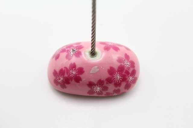 やきもの 焼き物 陶磁器 アクセサリー 小物雑貨 有田焼カードクリップ ピンク桜