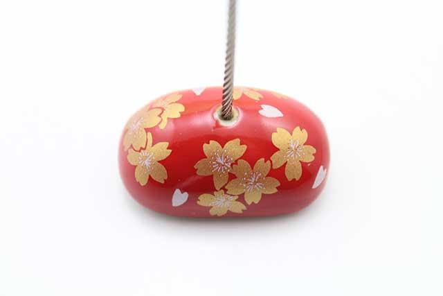 やきもの 焼き物 陶磁器 アクセサリー 小物雑貨 有田焼カードクリップ 赤金桜