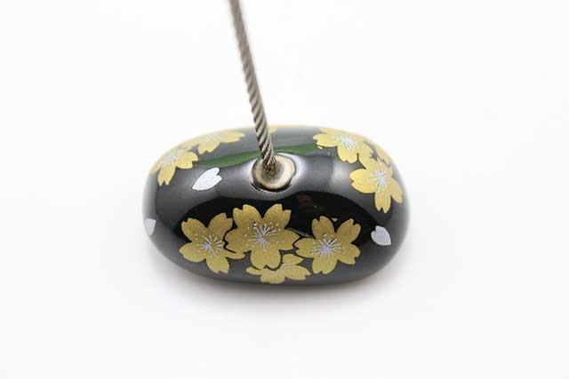 やきもの 焼き物 陶磁器 アクセサリー 小物雑貨 有田焼カードクリップ 黒金桜