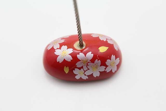 やきもの 焼き物 陶磁器 アクセサリー 小物雑貨 有田焼カードクリップ 赤銀桜