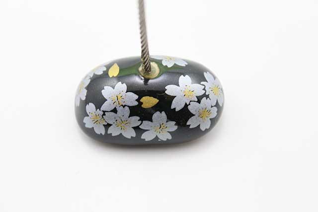 やきもの 焼き物 陶磁器 アクセサリー 小物雑貨 有田焼カードクリップ 黒銀桜