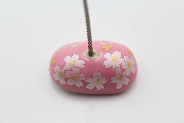 やきもの 焼き物 陶磁器 アクセサリー 小物雑貨 有田焼カードクリップ ピンク銀桜