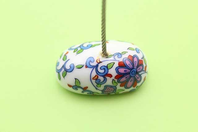 やきもの 焼き物 陶磁器 アクセサリー 小物雑貨 有田焼カードクリップ 花唐草