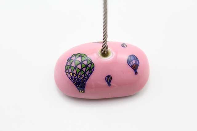 やきもの 焼き物 陶磁器 アクセサリー 小物雑貨 有田焼カードクリップ ピンクバルーン