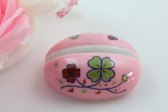 やきもの 焼き物 陶磁器 アクセサリー 小物雑貨 有田焼カード・写真立て ピンククローバー