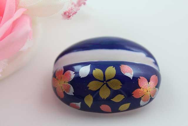 やきもの 焼き物 陶磁器 アクセサリー 小物雑貨 有田焼カード・写真立て るり桜吹雪(赤)