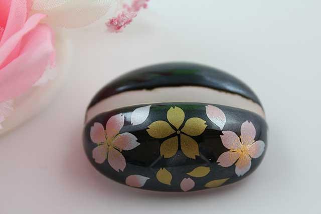 やきもの 焼き物 陶磁器 アクセサリー 小物雑貨 有田焼カード・写真立て 黒桜吹雪(ピンク)