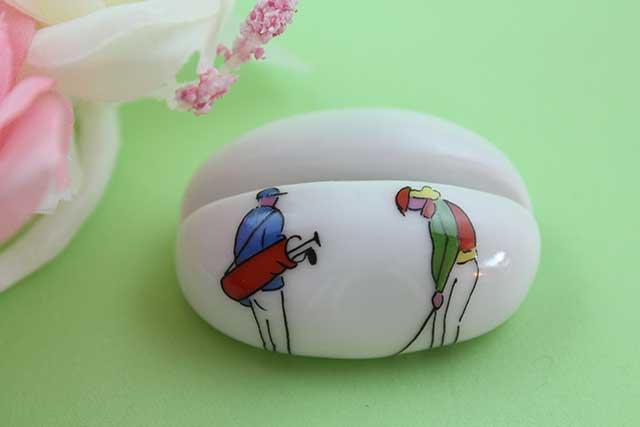 やきもの 焼き物 陶磁器 アクセサリー 小物雑貨 有田焼カード・写真立て ゴルファー