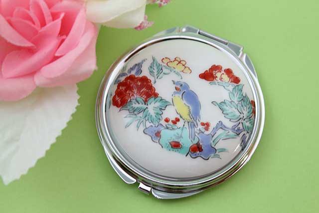やきもの 焼き物 陶磁器 アクセサリー 小物雑貨 有田焼コンパクトミラー 花鳥