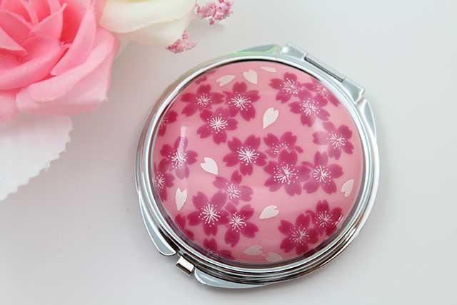 やきもの 焼き物 陶磁器 アクセサリー 小物雑貨 有田焼コンパクトミラー ピンク桜