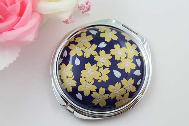やきもの 焼き物 陶磁器 アクセサリー 小物雑貨 有田焼コンパクトミラー るり金桜