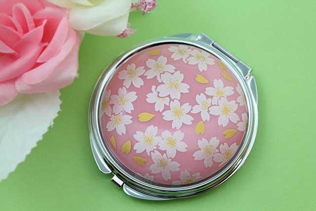 やきもの 焼き物 陶磁器 アクセサリー 小物雑貨 有田焼コンパクトミラー ピンク銀桜
