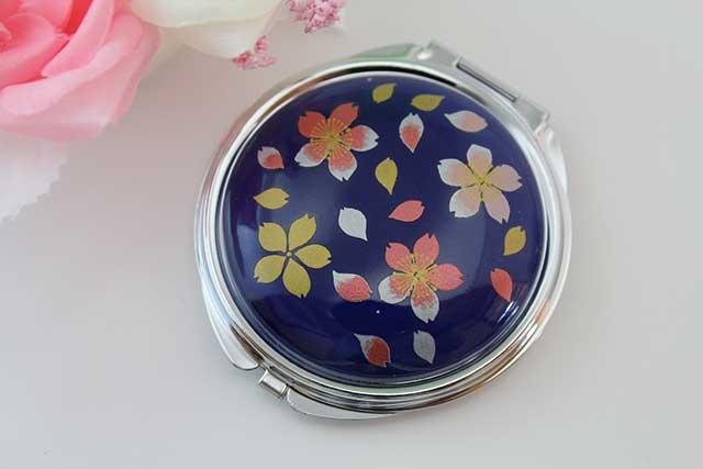 やきもの 焼き物 陶磁器 アクセサリー 小物雑貨 有田焼コンパクトミラー るり桜吹雪(赤)