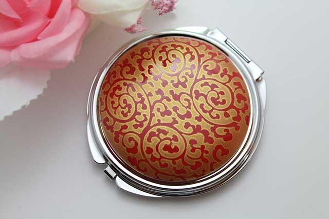 やきもの 焼き物 陶磁器 アクセサリー 小物雑貨 有田焼コンパクトミラー 赤金唐草