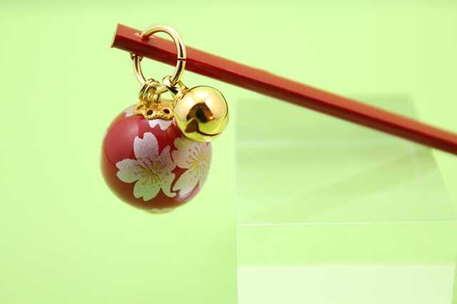 有田焼耳かき 赤銀桜