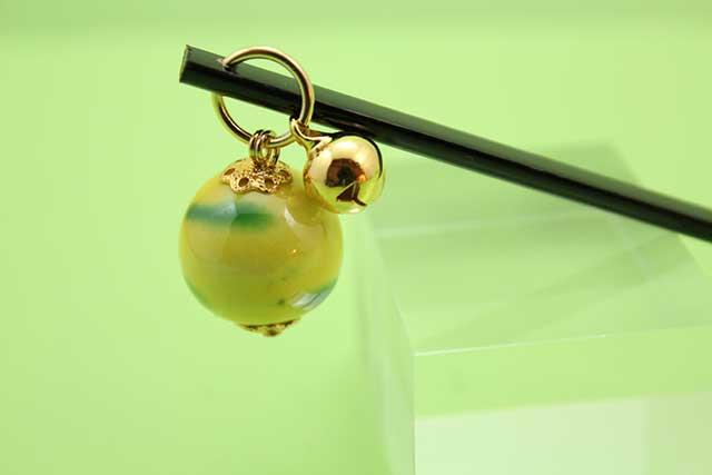 有田焼耳かき 黄グリーン