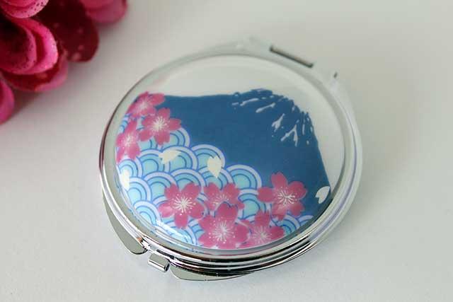 やきもの 焼き物 陶磁器 アクセサリー 小物雑貨 有田焼富士山コンパクトミラー 富士山桜