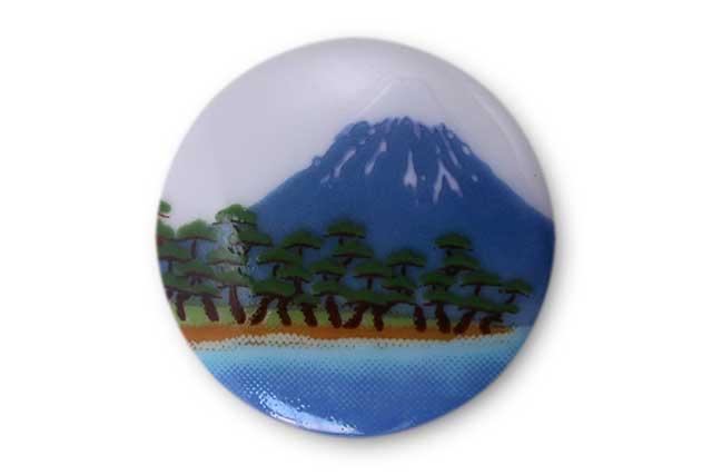 やきもの 焼き物 陶磁器 アクセサリー 小物雑貨 有田焼富士山ゴルフマーカー(クリップ式) 富士山松