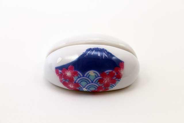 やきもの 焼き物 陶磁器 アクセサリー 小物雑貨 有田焼富士山カード立て 富士山桜