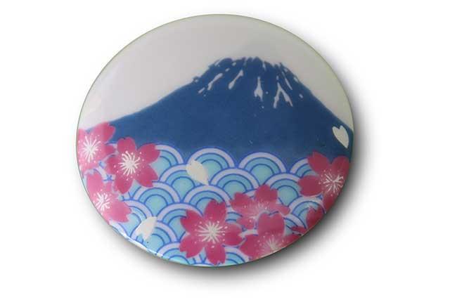 やきもの 焼き物 陶磁器 アクセサリー 小物雑貨 有田焼富士山マグネット 赤富士松