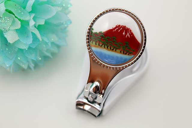 やきもの 焼き物 陶磁器 アクセサリー 小物雑貨 有田焼富士山爪切り 赤富士松