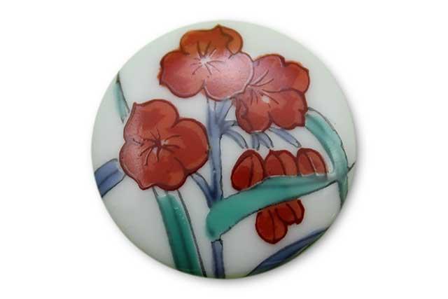 やきもの 焼き物 陶磁器 アクセサリー 小物雑貨 有田焼ゴルフマーカー(クリップ式) つゆ草