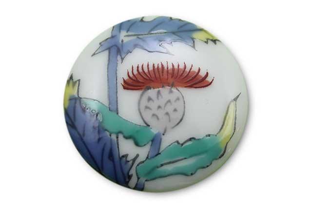 やきもの 焼き物 陶磁器 アクセサリー 小物雑貨 有田焼ゴルフマーカー(クリップ式) アザミ