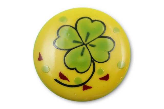 やきもの 焼き物 陶磁器 アクセサリー 小物雑貨 有田焼ゴルフマーカー(クリップ式) 黄クローバー