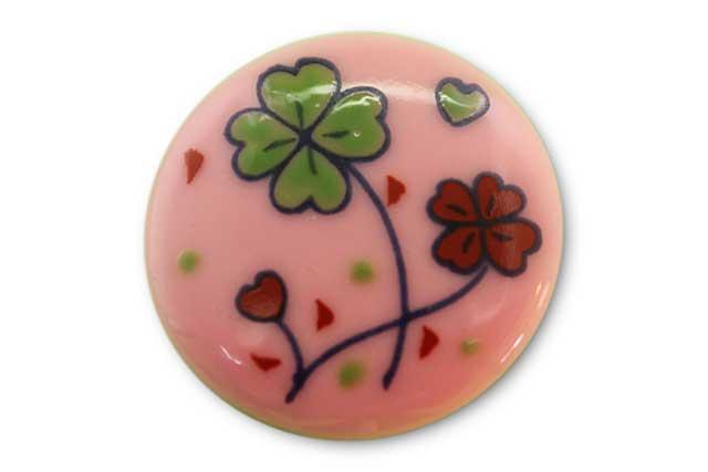 やきもの 焼き物 陶磁器 アクセサリー 小物雑貨 有田焼ゴルフマーカー(クリップ式) ピンククローバー