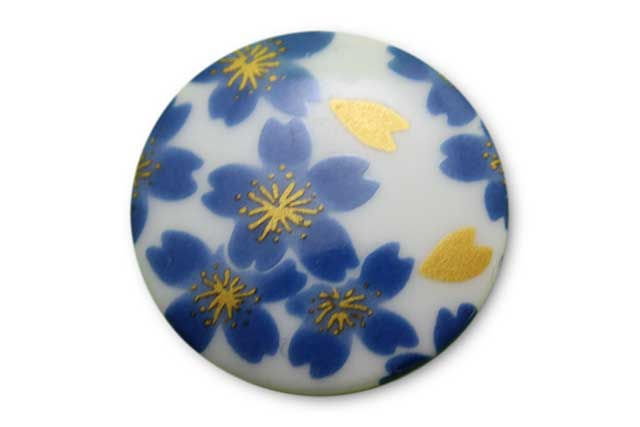 やきもの 焼き物 陶磁器 アクセサリー 小物雑貨 有田焼ゴルフマーカー(クリップ式) ブルー桜
