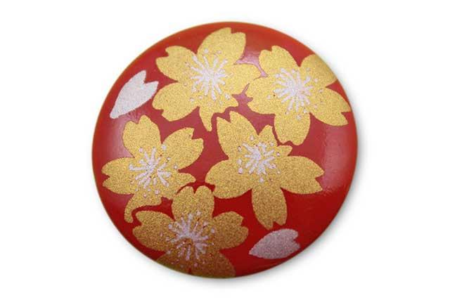 やきもの 焼き物 陶磁器 アクセサリー 小物雑貨 有田焼ゴルフマーカー(クリップ式) 赤金桜