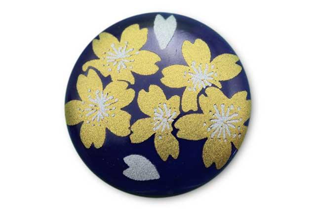 やきもの 焼き物 陶磁器 アクセサリー 小物雑貨 有田焼ゴルフマーカー(クリップ式) るり金桜