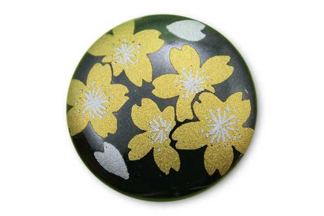 やきもの 焼き物 陶磁器 アクセサリー 小物雑貨 有田焼ゴルフマーカー(クリップ式) 黒金桜
